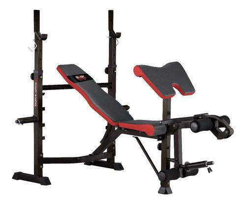 banco de pesas pecho plano inclinado declinado sentadillas