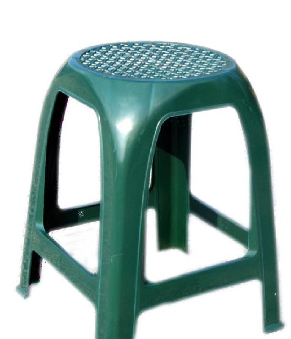 Banco de plastico summer verde en mercado libre for Bancos de jardin de plastico