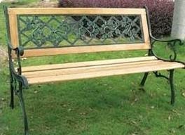 banco de plaza de fundicion y madera 1 y 2 cuerpos mesa