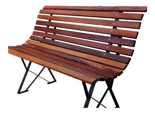 banco de plaza en madera dura