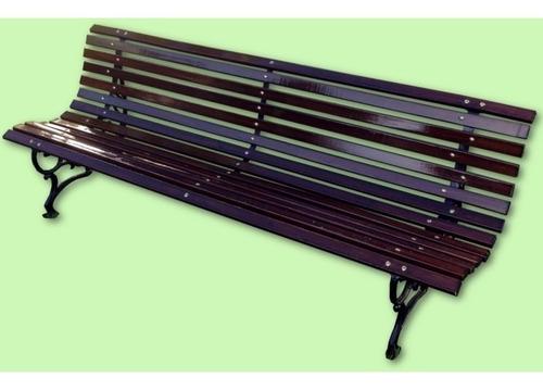 banco de plaza fil fer de 13 tablas 2.00m madera barnizada