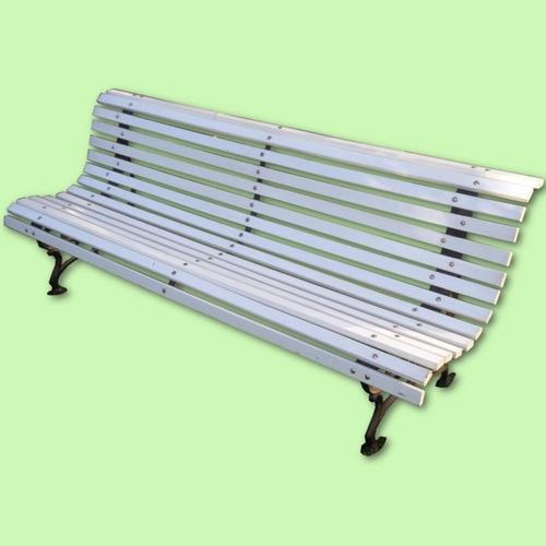 banco de plaza fil fer de 15 tablas 2.00m blanco