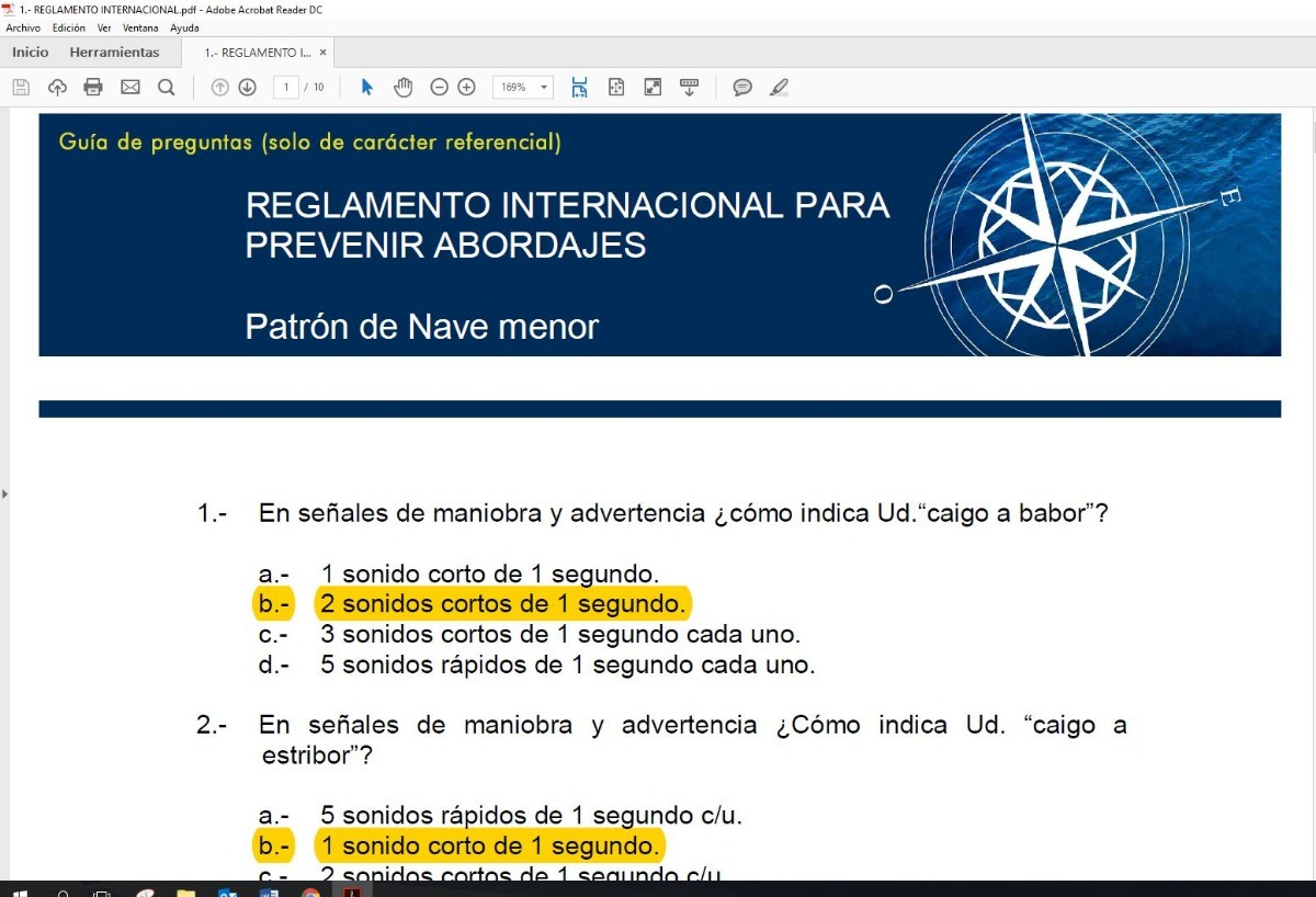 Banco De Preguntas Patrón Nave Menor - $ 15.000 en Mercado Libre