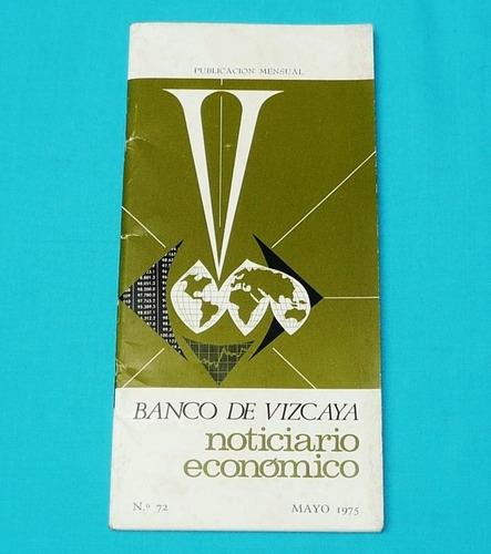 banco de vizcaya españa noticiario económico 1975 antiguo