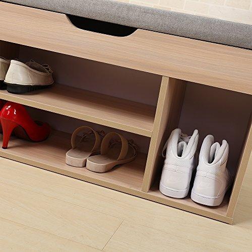 Banco De Zapatos Soges Con Caja De Almacenamiento Rack De ...