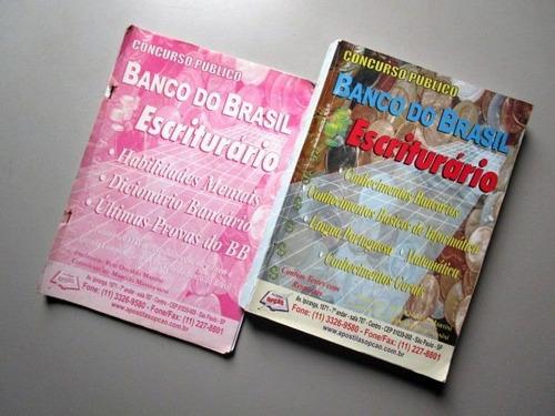banco do brasil - escriturário - várias disciplinas