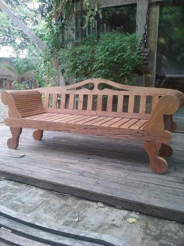 banco em madeira de demolição