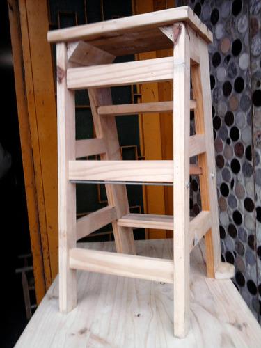 banco escalera en pino ! super reforzado