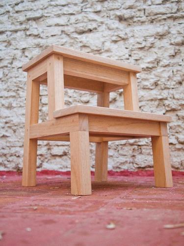banco escalera madera maciza simil ikea