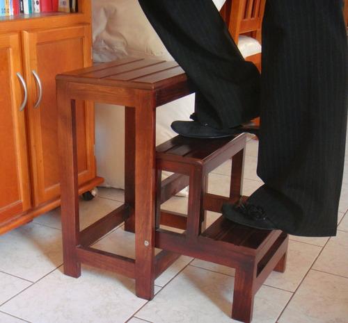 banco  escalera para cocina, plegable