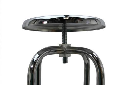 banco giratorio acero inoxidable con ruedas