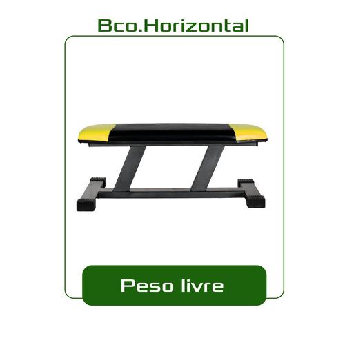 banco horizontal peso livre - frete gratis