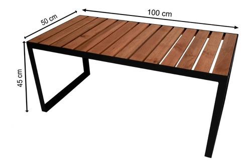 banco industrial em madeira e ferro