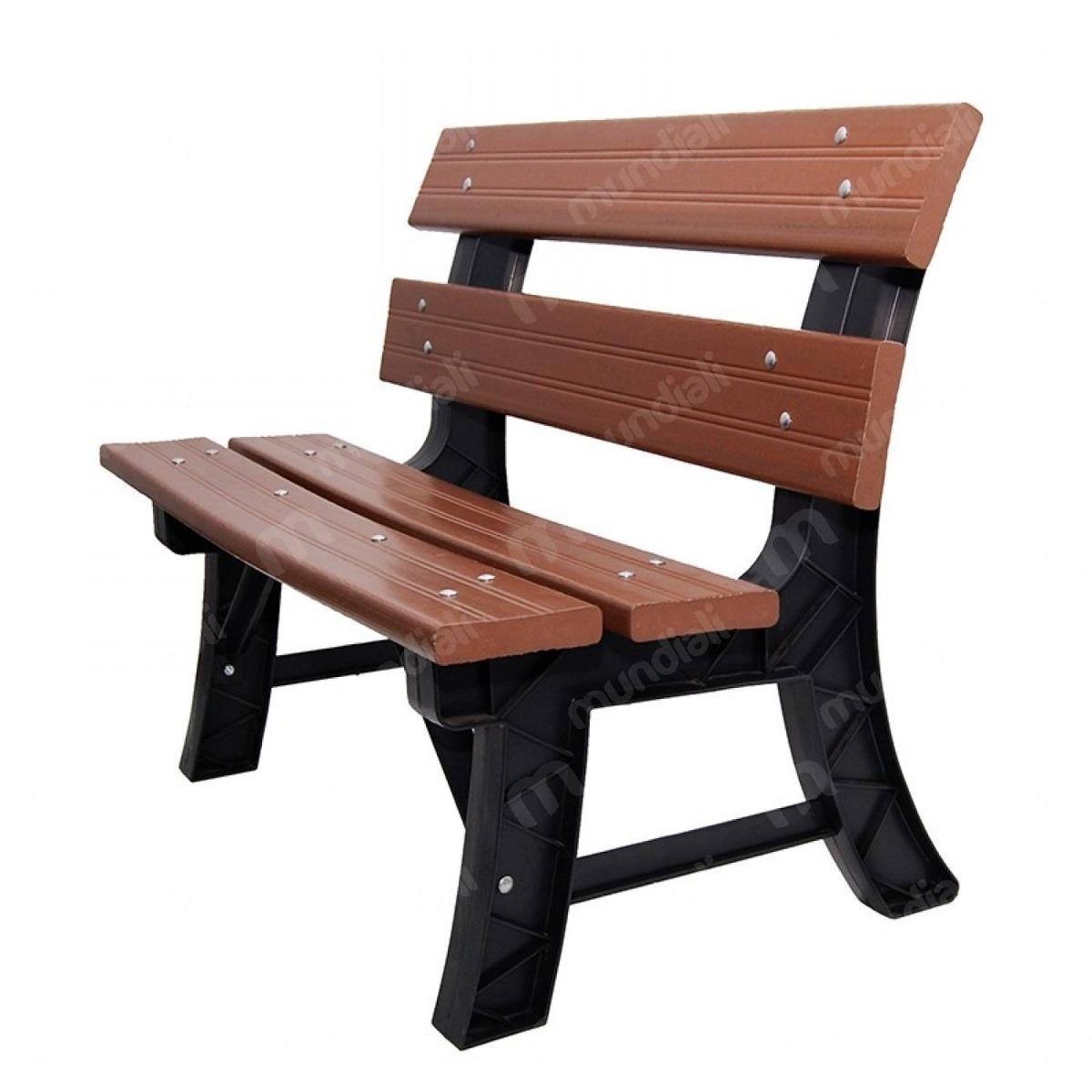 banco de jardim em madeira plástica:Banco Jardim C Encosto 93 Cm Itaúba Madeira Plástica Ecológi – R$