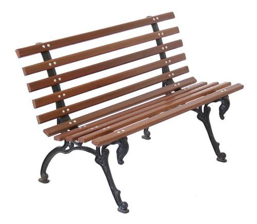 banco jardim praça madeira ferro tamandua 100cm namoradeira