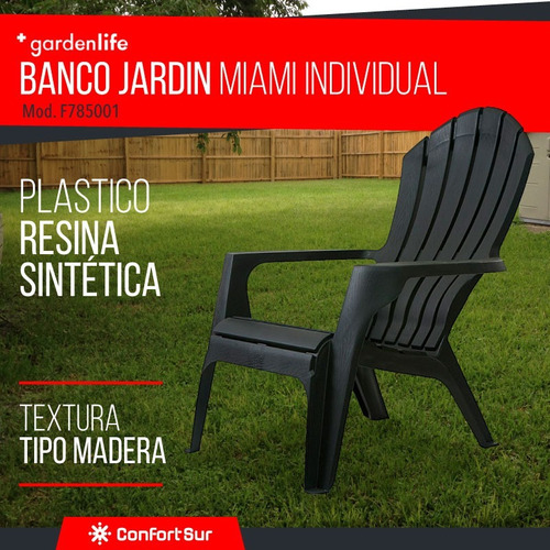 banco jardin miami apilable plastica garden life **10