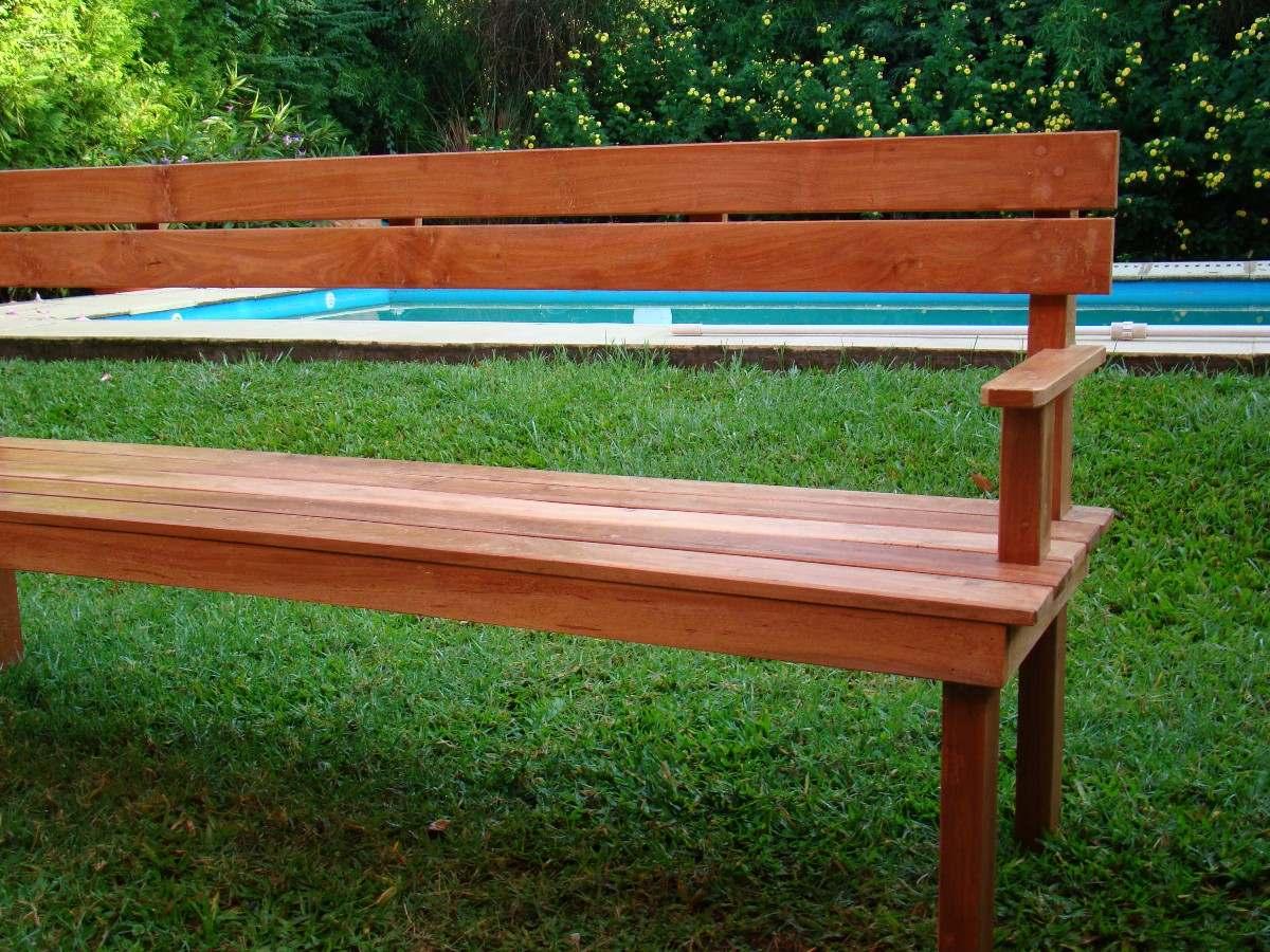 Bancos de jardin de madera conjunto de mesa y banco for Mesa banco madera jardin