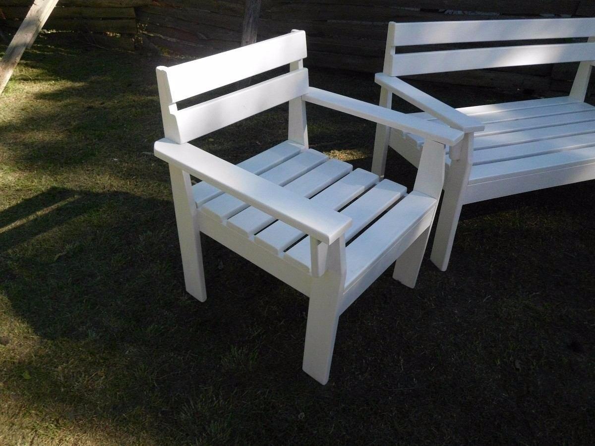 Banco de madera rustico banco de madera rustico para jardin o terraza por internet banco madera - Banco madera jardin ...