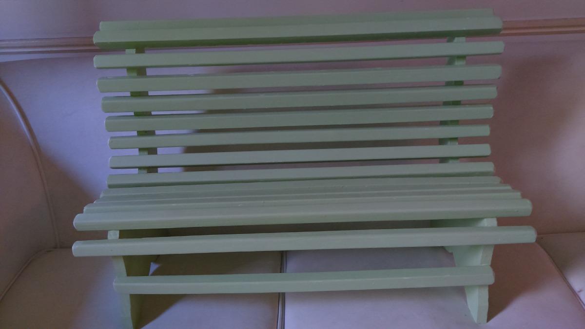 Muebles Para Niños - Banco Madera Pintado - $ 550,00 en Mercado Libre