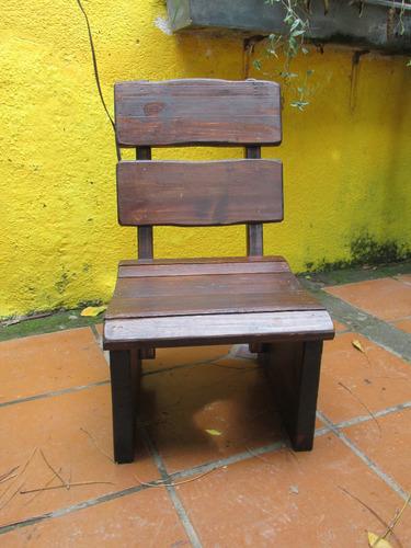 banco matero de madera maciza rustico