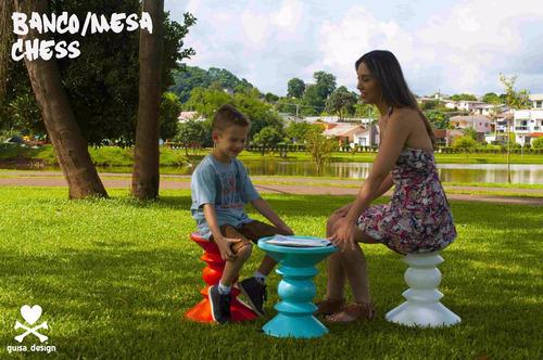 banco mesa taburete silla chess guisa_design azul moderno