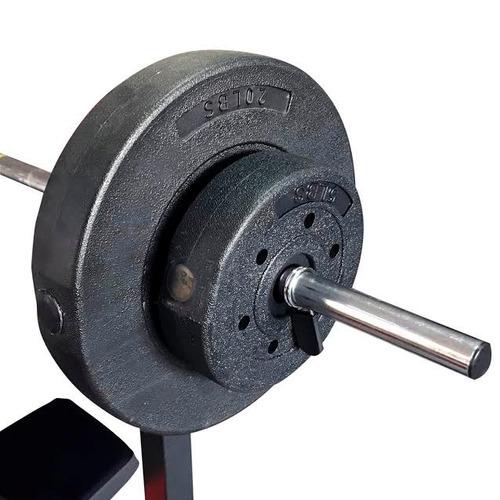 banco multi gimnasio completo + pesas + barra