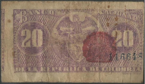 banco nacional 20 centavos 30 sep1900 serie i p265