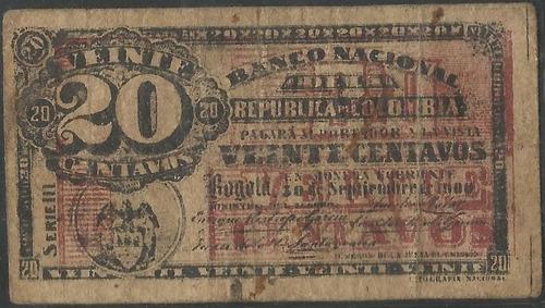banco nacional 20 centavos 30 sep1900 serie m  p265