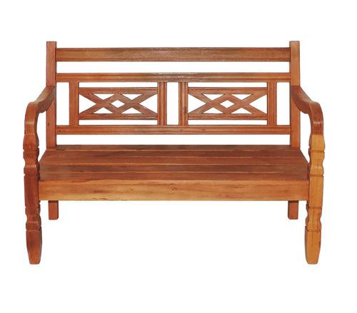 banco namoradeira são carlos 2 lugares em madeira maciça