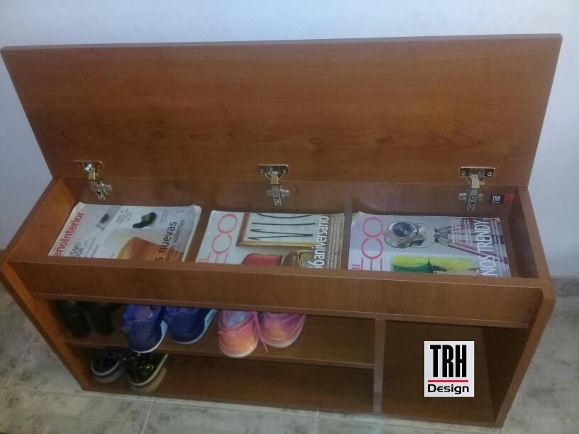 Banco Organizador De Zapatos Asiento Mueble Zapatero Nuevo