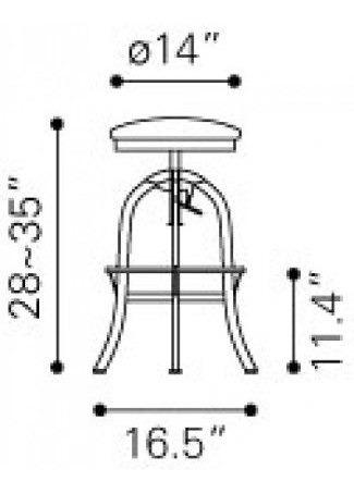 banco para bar modelo crete - burdeos këssa muebles