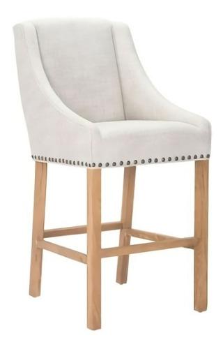 banco para bar modelo indio - beige këssa muebles