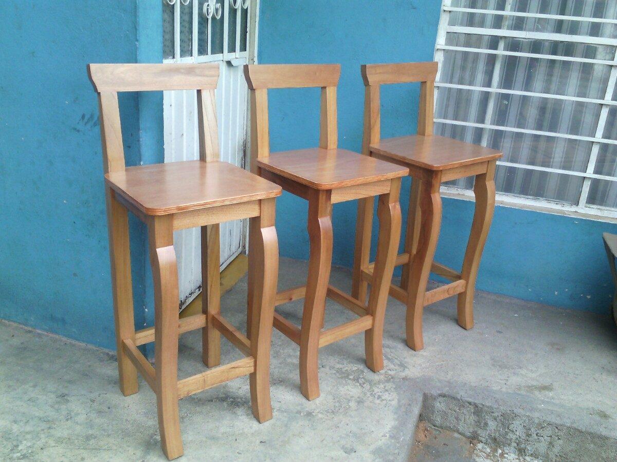Banco para desayunador barra cantina sillas 1 for Sillas para barra en madera