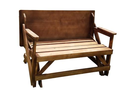 banco para igreja / vira mesa 1,00m - madeira maciça
