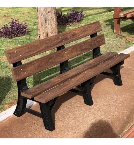 banco para jardim com encosto madeira plástica 150cm ia