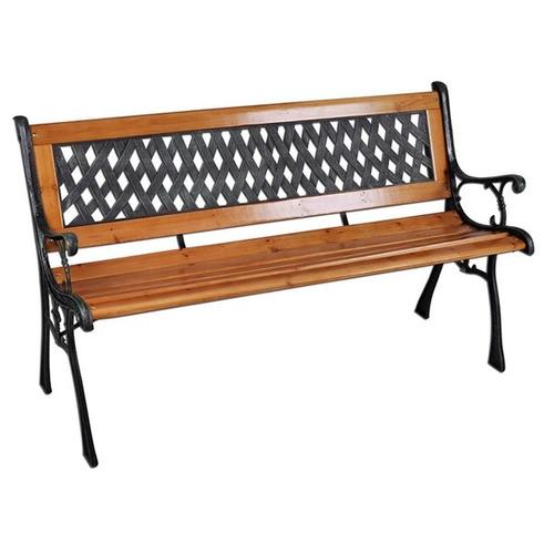 Banco para jard n madera pl stico y hierro dracma u s 62 for Banco para jardin exterior