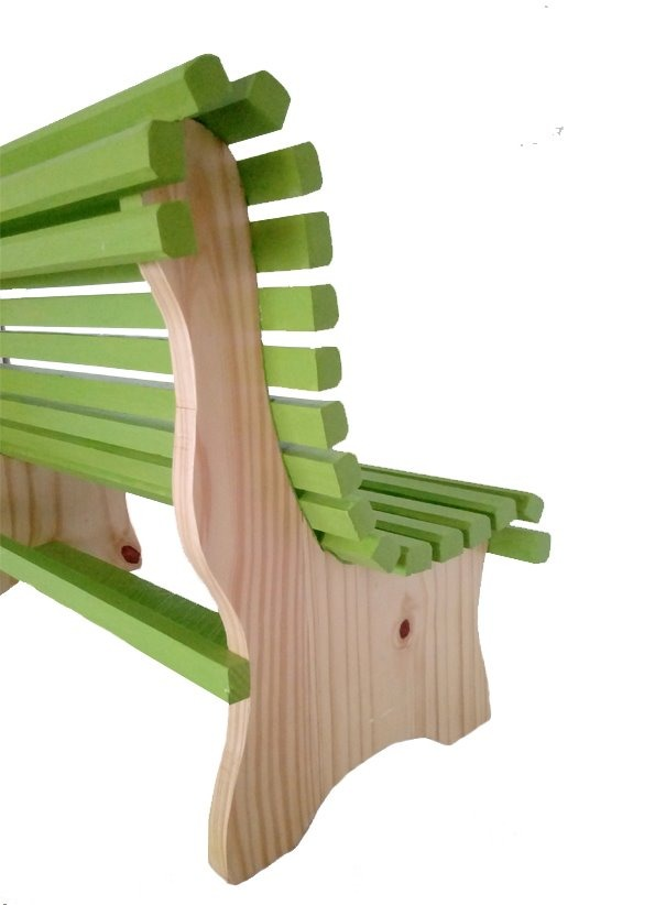Banco Para Niños De Madera Verde Mueble Original Colores - $ 890,00 ...