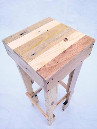 banco periquero madera tarima sustentable