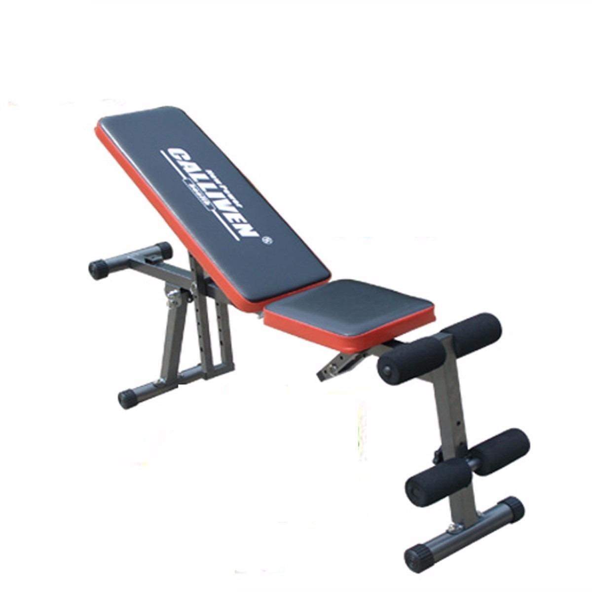 Banco pesas mancuernas abdominales gym plegable ajustable for Pesas y mancuernas