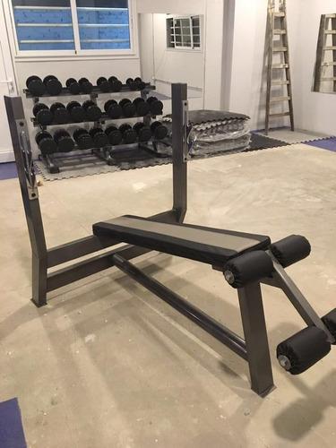 banco plano olímpico / profesional para gym. fabricante!!!