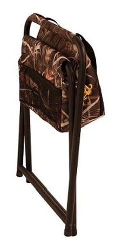 banco plegable browning con hielera silla caceria pesca camp
