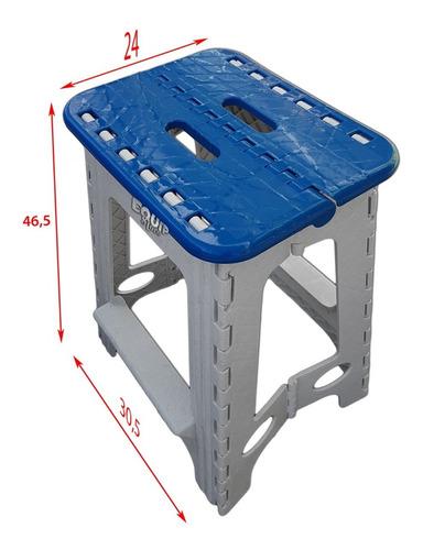 banco plegable camping alto banquito plastico resistente