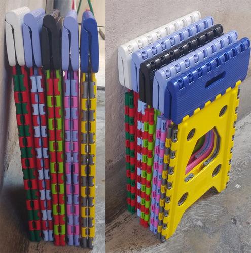 banco plegable de plastico