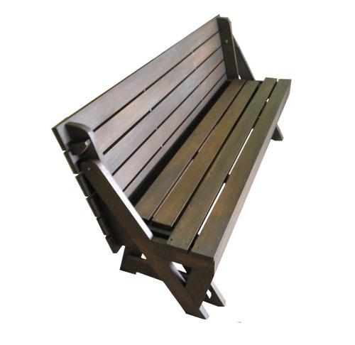 banco que vira mesa 1,7m de madeira para jardim imbuia