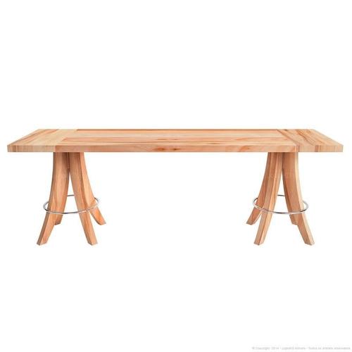 banco retangular rima em madeira maciça eucalipto natural