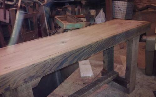 banco rustico maderas seleccionadas