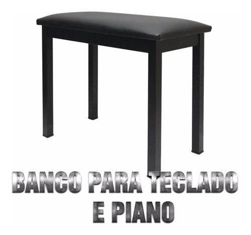 banco saty para piano bp 20 preto