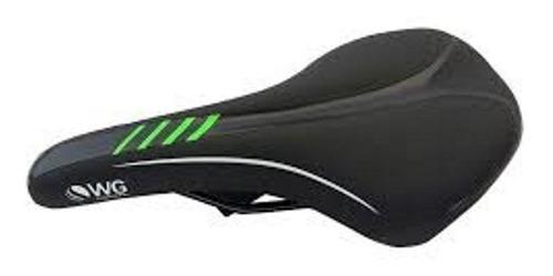 banco selim wg sports para bicicleta mtb preto/verde.