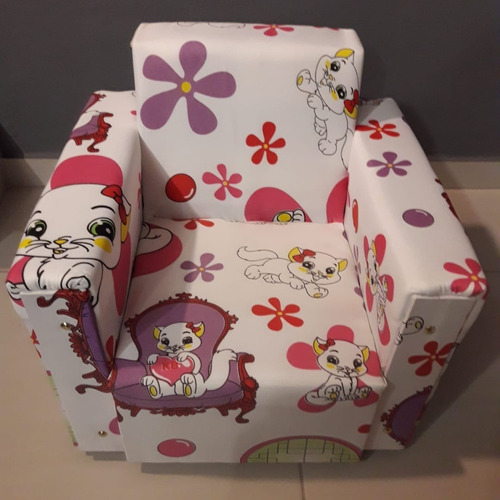 banco sofazinho estofado infantil gatinha marie gata