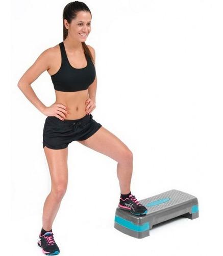 banco step aerobic premium para ejercicio ajustable 3 nivel